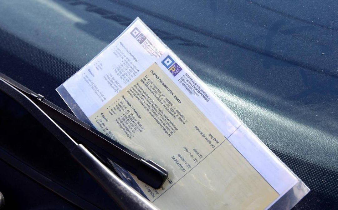 OBAVIJEST: Troškovi parkirnih kazni i dnevnih parkirališnih karata